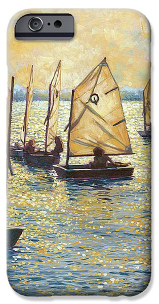 Sunwashed Sailors iPhone Case by Marguerite Chadwick-Juner
