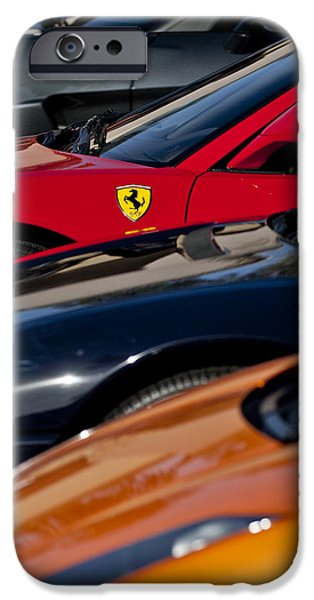 Supercars Ferrari Emblem iPhone Case by Jill Reger