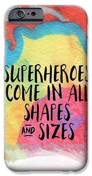 Marble iPhone Cases - Superheroes- inspirational art by Linda Woods iPhone Case by Linda Woods