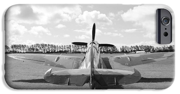 Mkix iPhone Cases - Supermarine Spitfire Mk IX iPhone Case by Robert Phelan