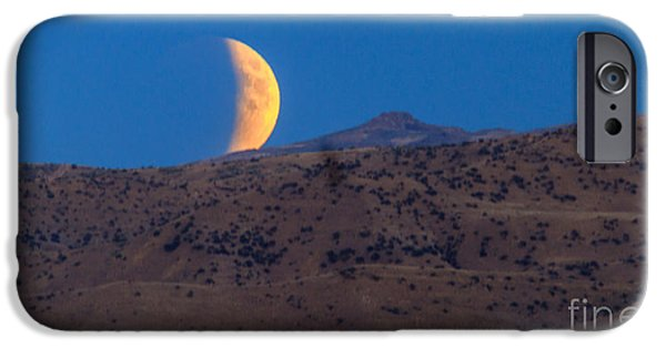Emmett iPhone Cases - Supermoon Eclipse iPhone Case by Robert Bales
