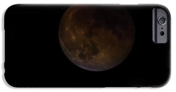 Constellations iPhone Cases - Supermoon Full Lunar Eclipse 27 September 2015 iPhone Case by Eti Reid