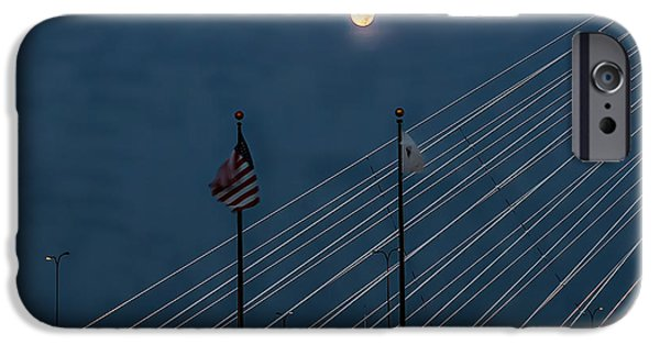 Boston Ma iPhone Cases - Supermoon in the morning iPhone Case by Larry  Richardson