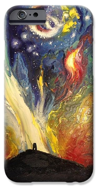 Supernova Paintings iPhone Cases - Supernova over Avalon iPhone Case by Frith Johnson