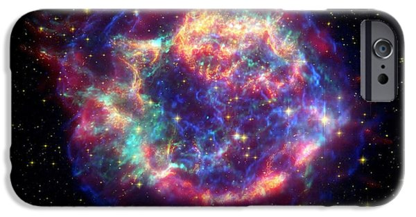Neutron iPhone Cases - Supernova Remnant Cassiopeia A iPhone Case by Stocktrek Images