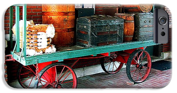 Dolley iPhone Cases - Supply Wagon iPhone Case by Steve C Heckman