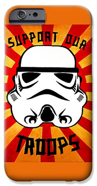 Ww1 iPhone Cases - Support our troops iPhone Case by Antony Bagley