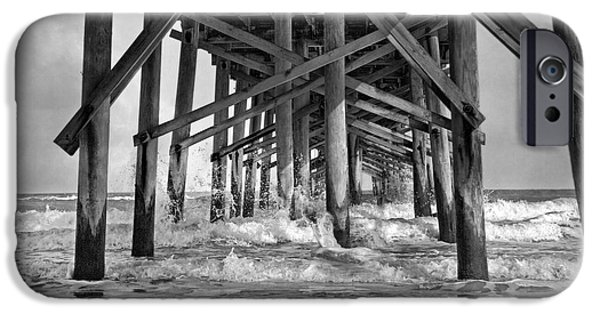Topsail iPhone Cases - Jolly Roger Pier A Dreamers Day iPhone Case by Betsy C  Knapp