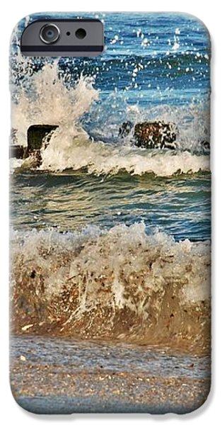 Surf Stir - Jersey Shore iPhone Case by Angie Tirado