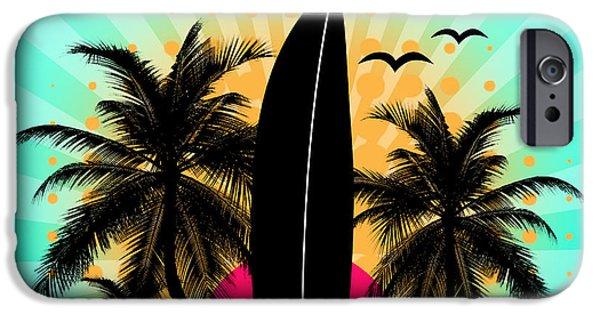 Animation iPhone Cases - Surf World  iPhone Case by Mark Ashkenazi