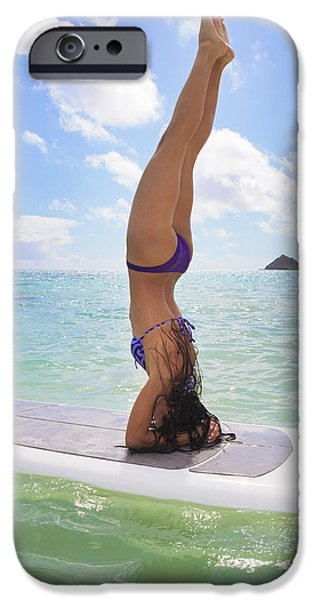 Surfboard Headstand iPhone Case by Tomas del Amo - Printscapes