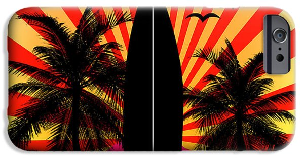 Animation iPhone Cases - Surfboard iPhone Case by Mark Ashkenazi
