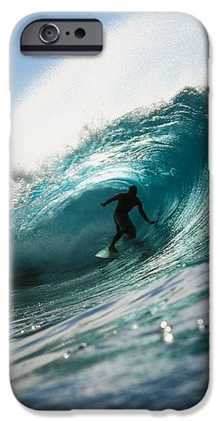 Surfer At Pipeline iPhone Case by Vince Cavataio - Printscapes