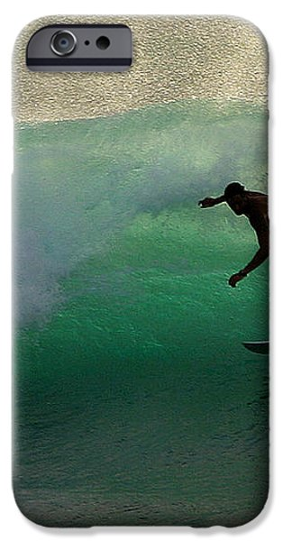 Surfer Surfing blue waves at Dumps Maui Hawaii iPhone Case by Pierre Leclerc Photography