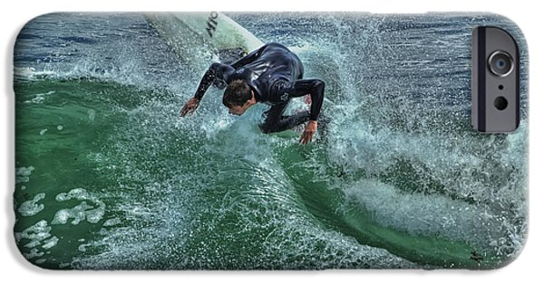 Steamer Lane iPhone Cases - Surfing Steamers iPhone Case by Paul Gillham