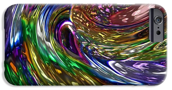 Oil Slick iPhone Cases - Surfing The Oil Spill iPhone Case by Alec Drake