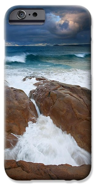 Knights Beach iPhone Cases - Surfs Up iPhone Case by Mike  Dawson