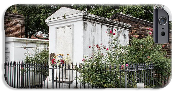 Cemetary iPhone Cases - Surrounded By Roses iPhone Case by Robert Kinser