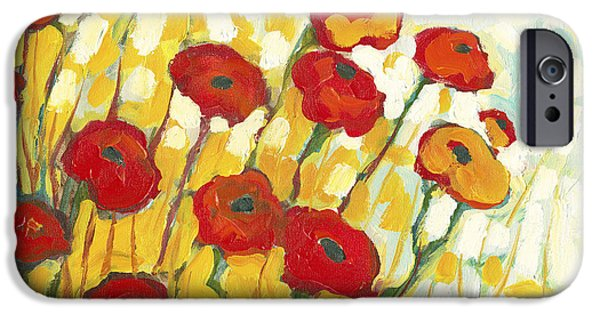 Colorful Paintings iPhone Cases - Surrounded in Gold iPhone Case by Jennifer Lommers