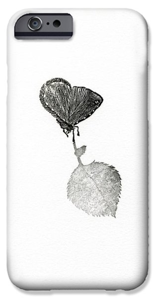 Flora Drawings iPhone Cases - Suspense iPhone Case by Bella Larsson