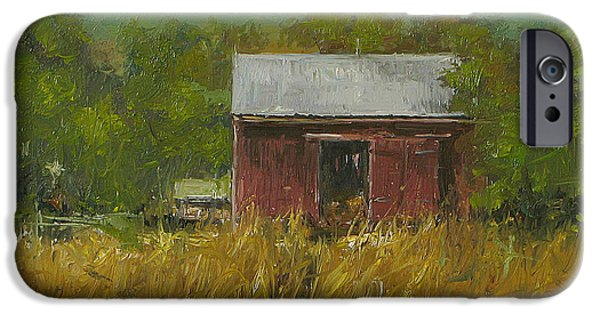 Old Barns iPhone Cases - Sussex Farm iPhone Case by Will Harmuth