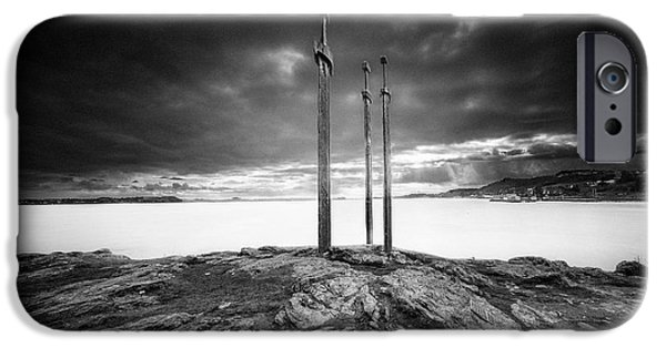 Norway iPhone Cases - Sverd i fjell iPhone Case by Erik Brede
