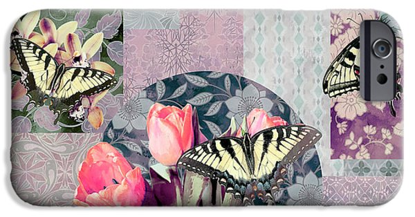 Plant iPhone Cases - Swallowtail Butterfly 1 iPhone Case by JQ Licensing