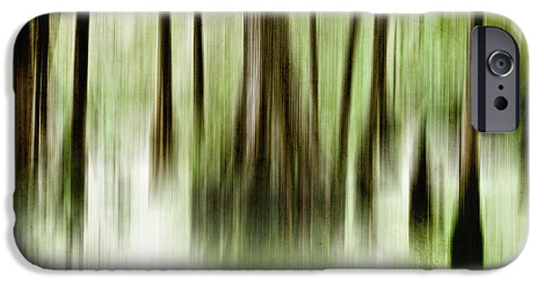 Abstract Digital Photographs iPhone Cases - Swamp iPhone Case by Scott Pellegrin