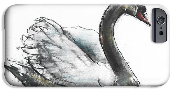 Swan iPhone Cases - Swan iPhone Case by Mark Adlington