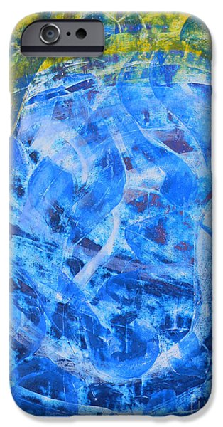 Contemporary Abstract iPhone Cases - Sway iPhone Case by Adel Nemeth