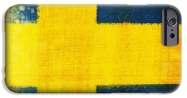 Flag iPhone Cases - Swedish flag iPhone Case by Setsiri Silapasuwanchai