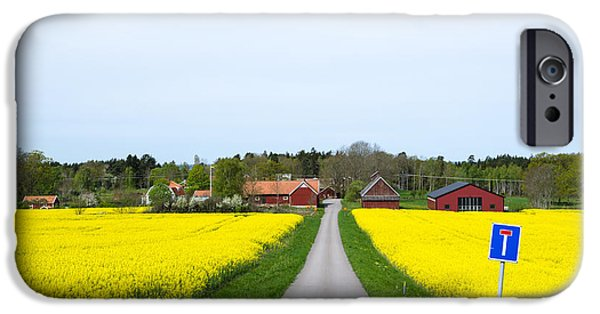 Agriculture iPhone Cases - Swedish spring landscape iPhone Case by Kennerth and Birgitta Kullman