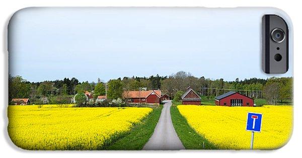 Crops iPhone Cases - Swedish spring landscape iPhone Case by Kennerth and Birgitta Kullman