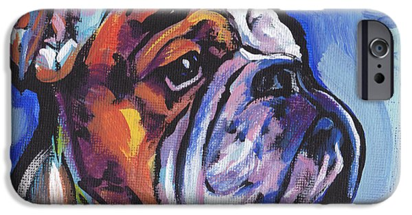 Bulldog iPhone Cases - Sweet Bully iPhone Case by Lea