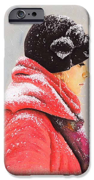 Snowy Pastels iPhone Cases - Sweet Caroline iPhone Case by Katharina Filus