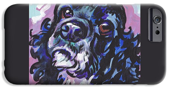 Cocker Spaniel Paintings iPhone Cases - Sweet Cocker iPhone Case by Lea