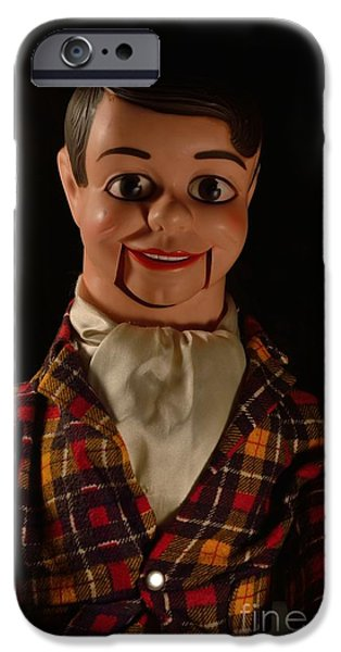 Eerie iPhone Cases - Danny ODay Ventriloquist Dummy iPhone Case by Donna Stelly