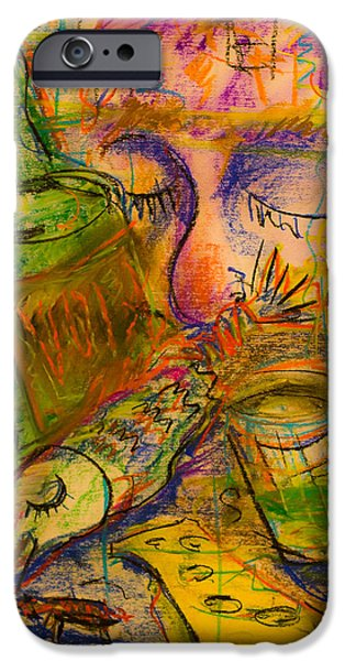 Table Wine Drawings iPhone Cases - Sweet dreams iPhone Case by Maxim Komissarchik