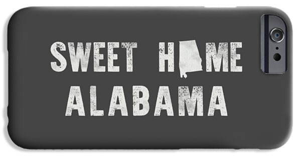 Young Mixed Media iPhone Cases - Sweet Home Alabama iPhone Case by Nancy Ingersoll
