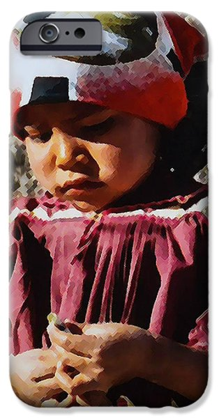Little Girl iPhone Cases - Sweet Innnocence iPhone Case by Wendy Martinez