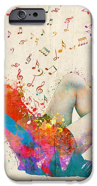 Sweet Jenny Bursting with Music iPhone Case by Nikki Smith