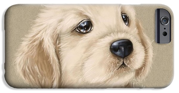 Puppies iPhone Cases - Sweet little dog iPhone Case by Veronica Minozzi