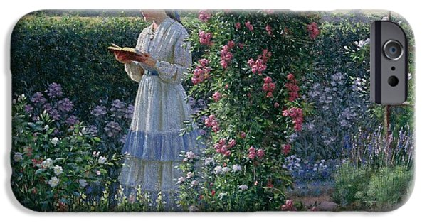 Blossom iPhone Cases - Sweet Solitude iPhone Case by Edmund Blair Leighton