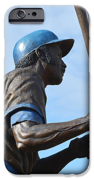 Wrigley Field iPhone Cases - Sweet Swinging Billy Williams 2 iPhone Case by Richard Andrews