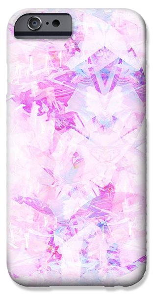 Abstract Digital Paintings iPhone Cases - Sweet Tooth iPhone Case by Beth Travers