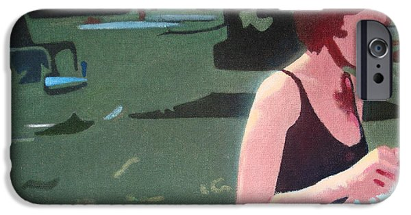1950s Movies iPhone Cases - Sweet Woman with Bathing Cap iPhone Case by Geoff Greene