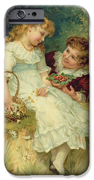 1856 iPhone Cases - Sweethearts iPhone Case by Frederick Morgan