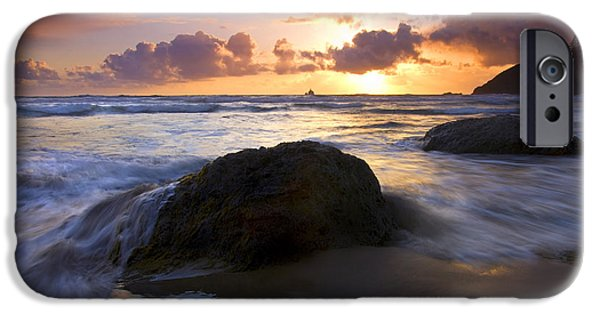 Oregon Coast iPhone Cases - Swept Away iPhone Case by Mike  Dawson