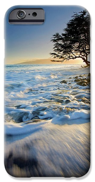 Seacapes iPhone Cases - Swept out to Sea iPhone Case by Mike  Dawson
