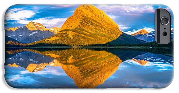 Recently Sold -  - Forest iPhone Cases - Swiftcurrent Lake Sunrise Panorama iPhone Case by Dustin  LeFevre